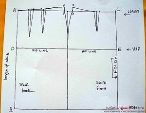 Как выкроить прямую юбку