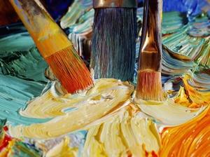 Кисти и краски для росписи