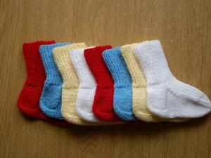 Простые детские носки