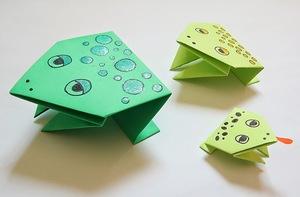 master-klass-po-izgotovleniju-ljagushki Лягушка оригами из бумаги (которая прыгает): схема сборки для детей