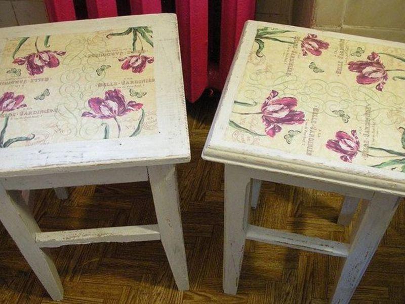 Декупаж мебели салфетками своими руками