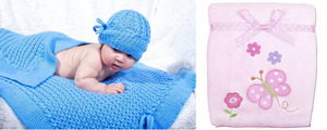 siniii-pled-dlya-mladentsa Детский плед спицами: схемы с описаниями того, как связать одеялко с фото и видео