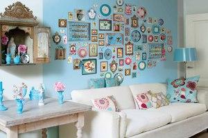 Декор стен из подручных материалов