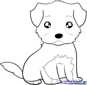 Нарисовать собаку поэтапно