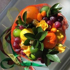 Фруктовые букеты своими руками: фруктово-овощные композиции, вкусные корзинки с фруктами, интересные идеи || Подарки своими руками фрукты