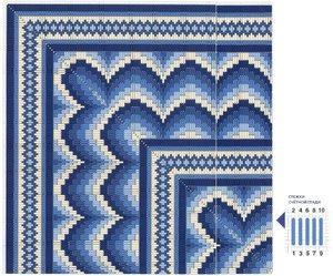 kvadrat-bardzhello-dlya-vyshivki Барджелло — вышивка на сетке. Немного примеров со схемами…