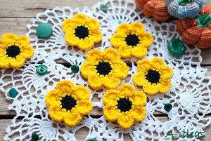 tsvety-kryuchkom Вязаные Цветы Крючком: МК для Начинающих 125 ФОТО и ВИДЕО