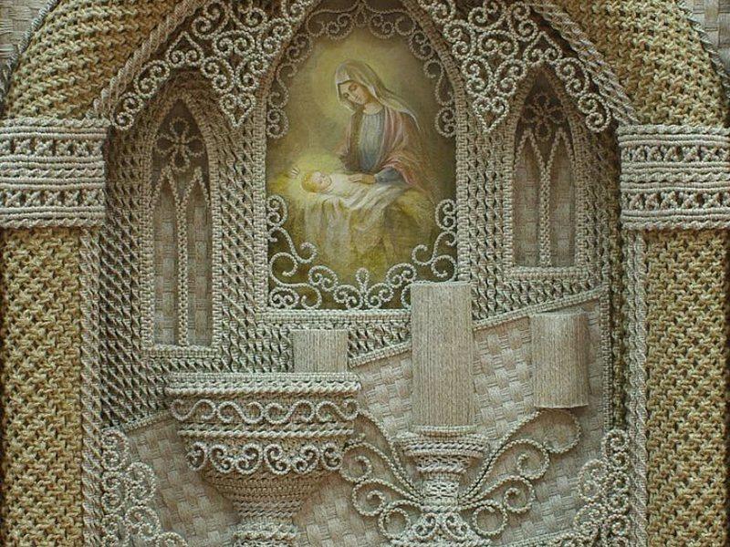 Узоры макраме, фото и схемы плетения красивых и необычных панно