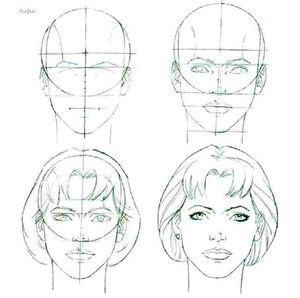 Рисуем лицо поэтапно - девушка