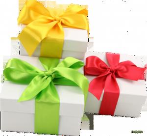 Разноцветные банты для коробок