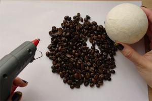 Топиарии своими руками из кофейных зёрен: пошаговые фото