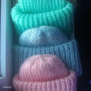 схема вязания шапки с бородой