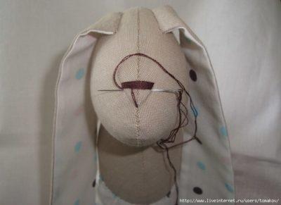 Как сшить зайца с длинными ушами по выкройке
