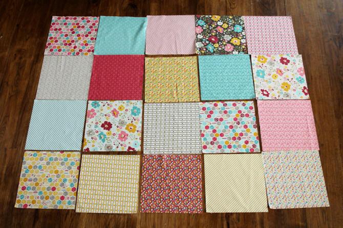 Лоскуты для пошива одеяла