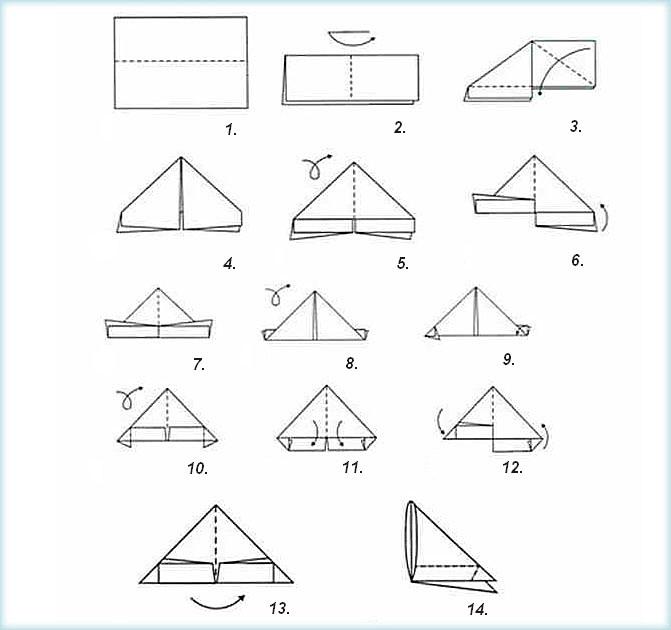 Схема сбора модуля оригами