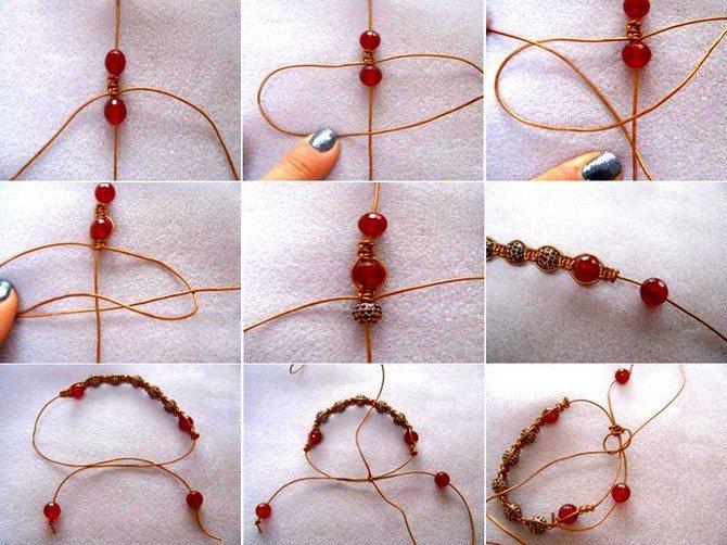 Плетение браслета шамбала фото