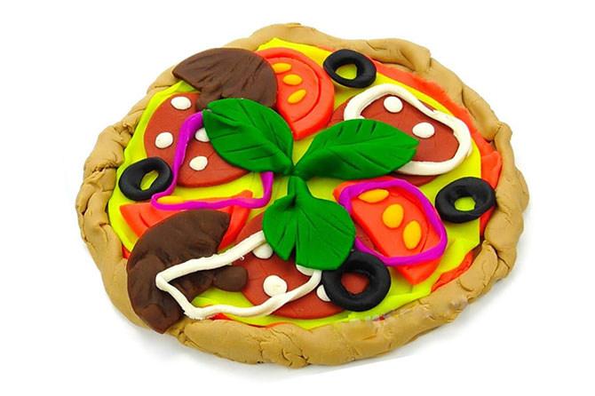 Пластилиновая пицца для кукол