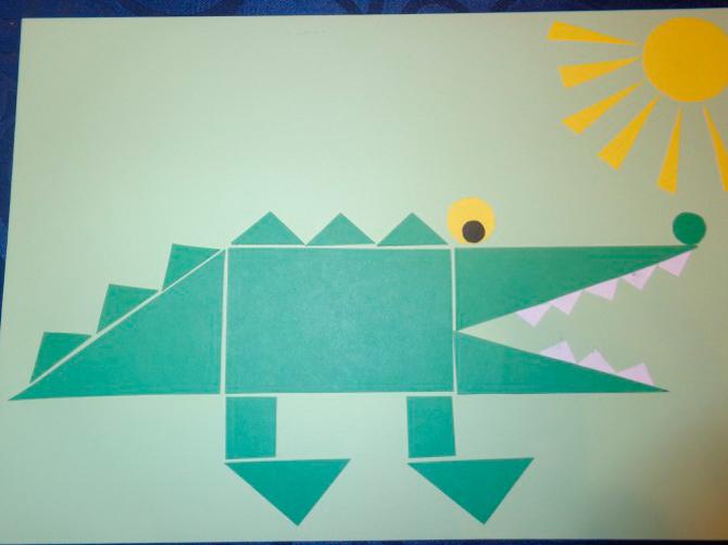 Аппликации из геометрических фигур для детей