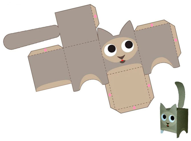 3D игрушки из бумаги