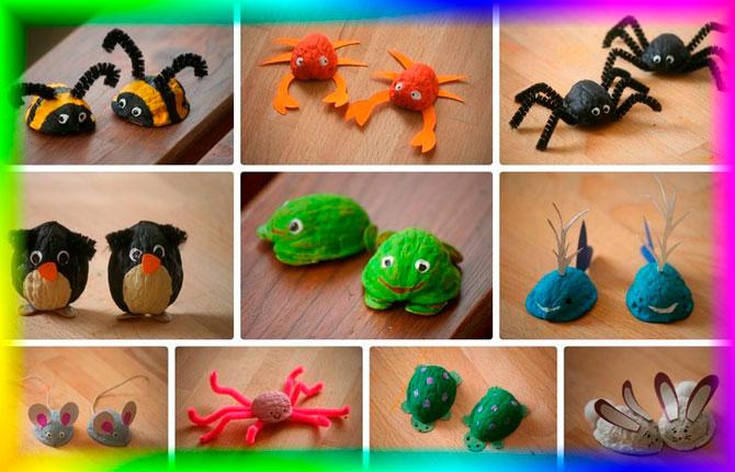 Детские поделки из скорлупы грецкого ореха - идеи для творчества