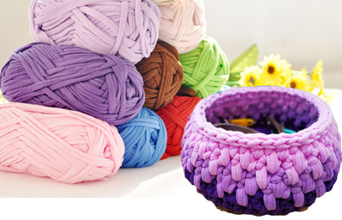 Тканевая пряжа для вязания