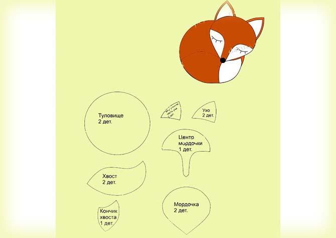 Красивые лисички из фетра - фото фигур с пошаговыми описанием