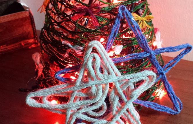 Красивые звезды на елку - делаем красоту своими руками
