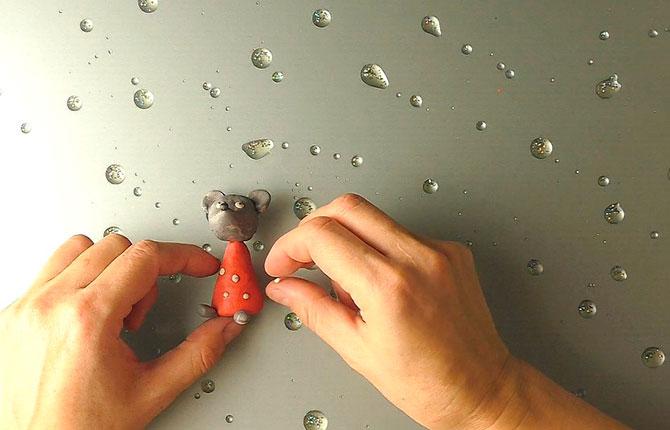 Как слепить мышку из пластилина поэтапно своими руками