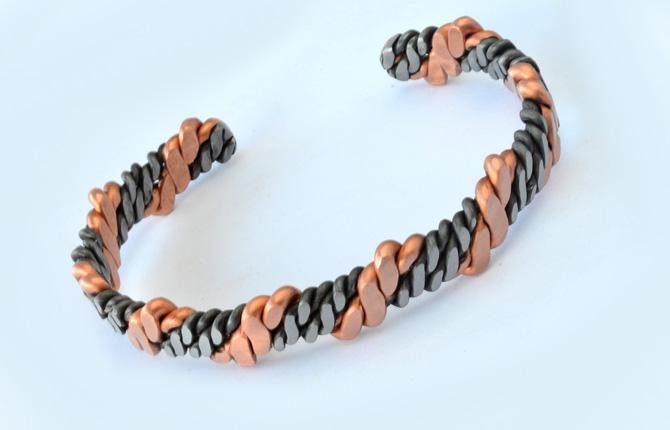 Мужской биметаллический браслет