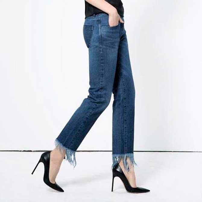 Бахрома на джинсах