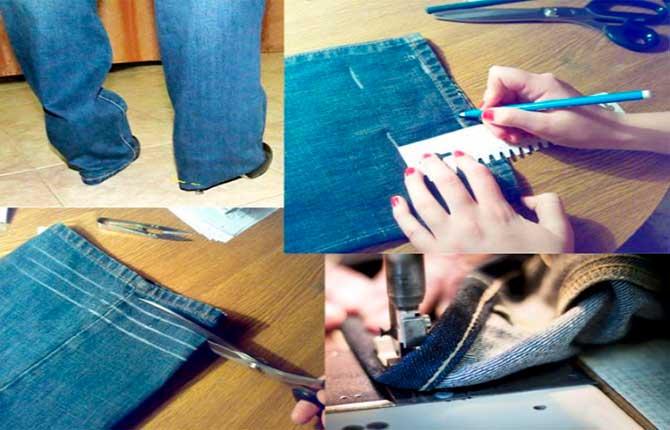 Как легко и красиво укоротить джинсы не обрезая низ - проверенные способы