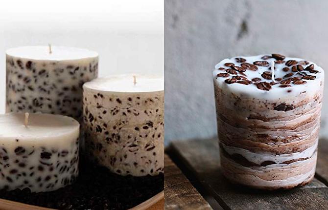 Варианты изготовления кофейной свечи