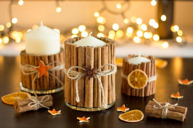 Декор восковой свечи