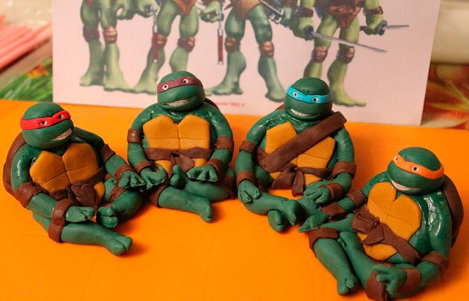 Армия черепашек Ниндзя из пластилина