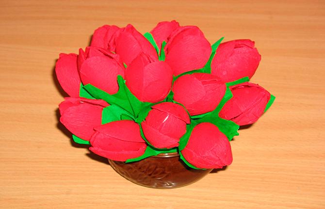 Тюльпаны из ложек