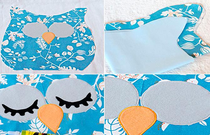 Пошив подушки Сова