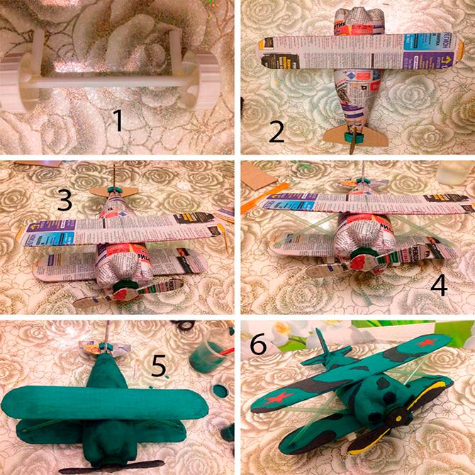 Как делать самолет из пластиковой бутылки