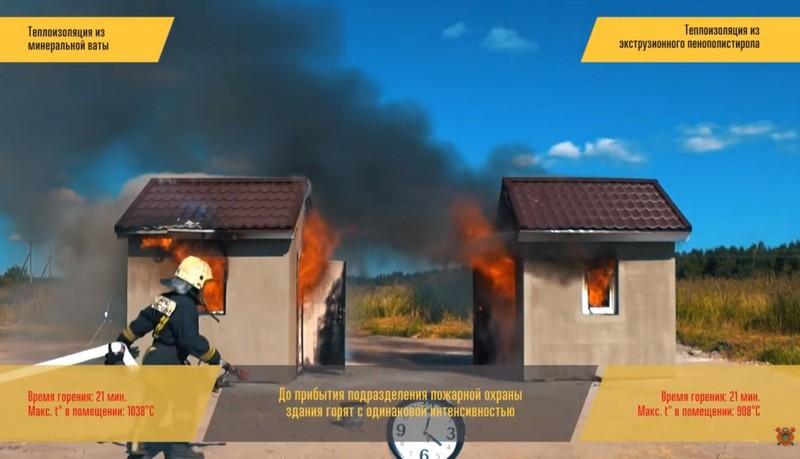 Моделирование пожара в газобетонных домах
