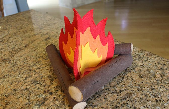 Поделка Огонь