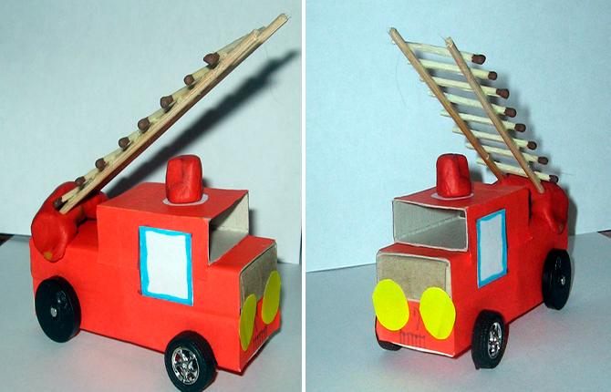 Пожарная машина своими руками
