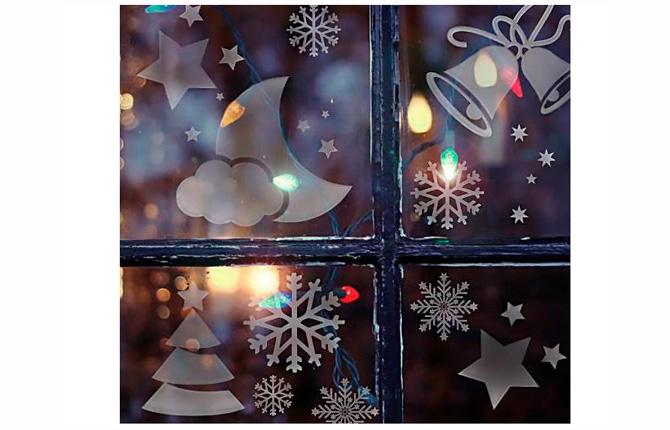 Новогодние трафареты на окна нарисованные мылом