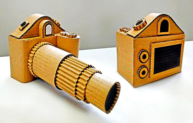Фотоаппарат из картонной коробки