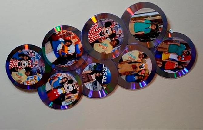Рамка для фото из CD-дисков