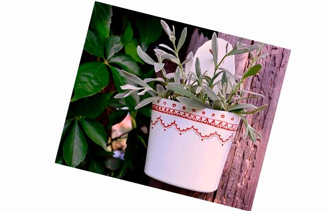Подвесная ваза для сада