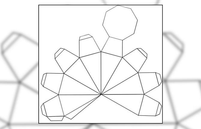 Шаблон для поделки из бумаги