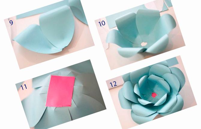 Гигантский цветок из бумаги пошаговая инструкция