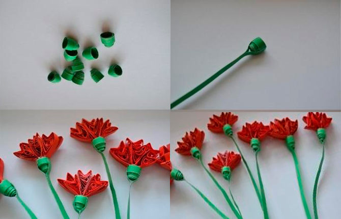 Делаем красивые цветы в технике квиллинг - пошаговый мастер-класс